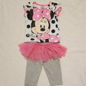 2T pink Minnie Mouse outfit